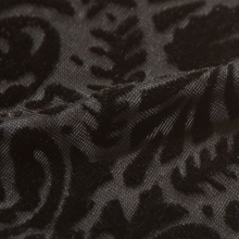 Black Paisley Burnout Velvet