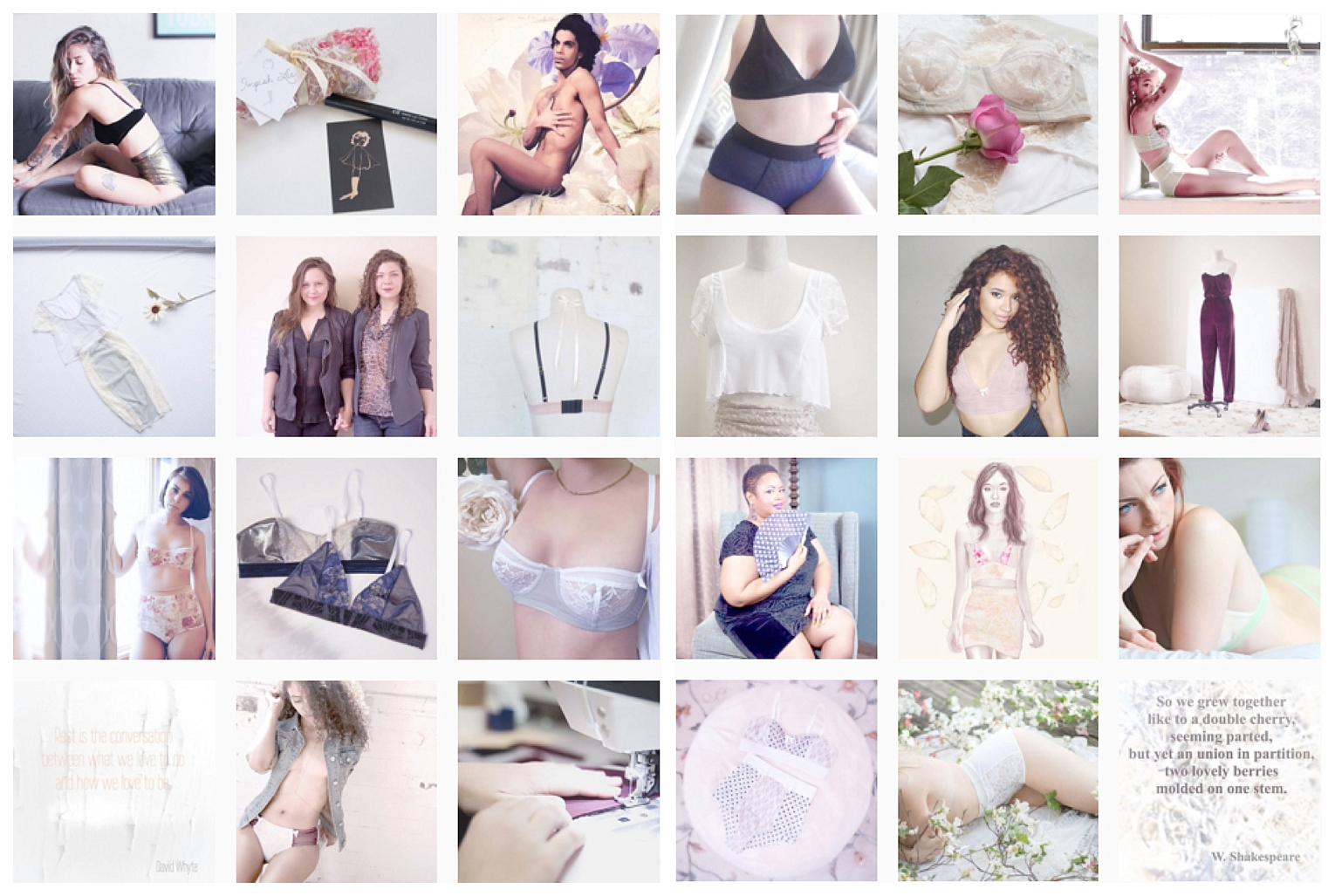 Impish Lee, Branding, Color Pallet, Best Instagram Practices, Lingerie, Blogger, Plus Size Blogger, Collaboration, Customization