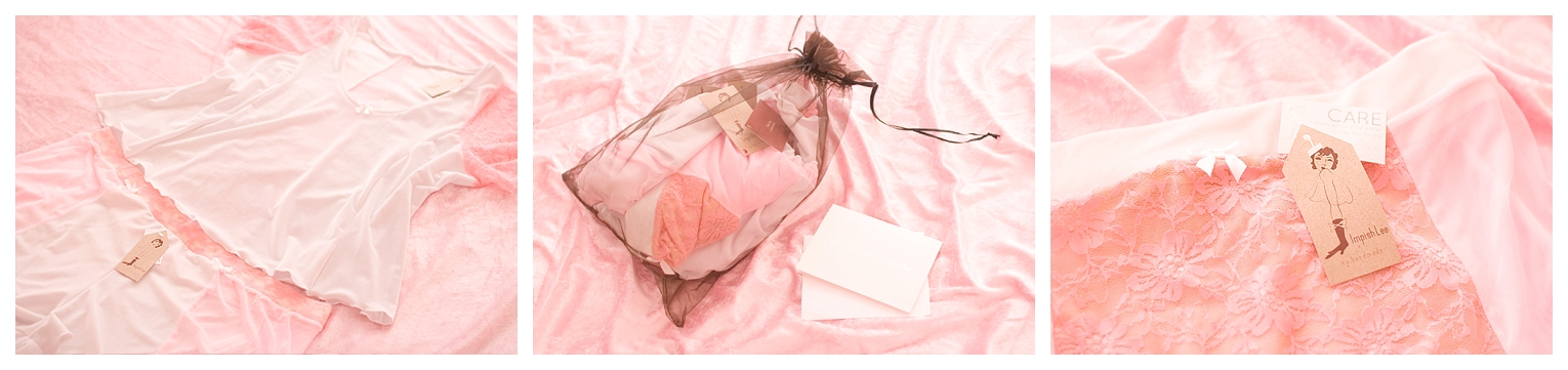 Cotton Candy custom lingerie from Impish Lee, size inclusive fashion brand offering customization lingerie and lougewear