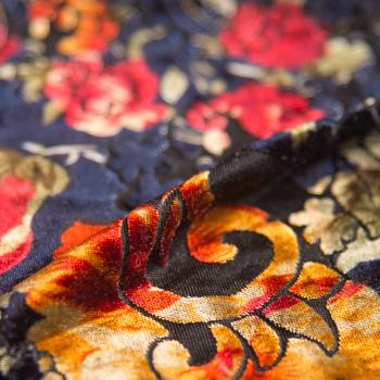 Floral Burnout Velvet